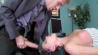 Office slut gets nailed so hard