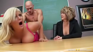 Busty blonde slut nailed so hard