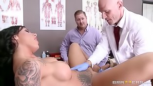 Tattooed slut gets examined