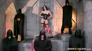 Freaky monks screw a sexy girl