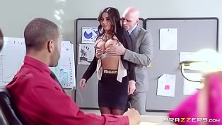 Sexy office slut gets a big dick
