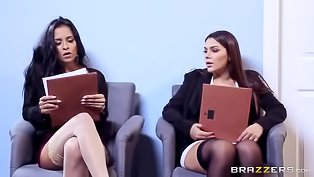 Horny sluts get nailed in the office