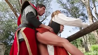 Handsome knight fucks a sweet lady