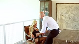 Watch luxurious blonde being banged
