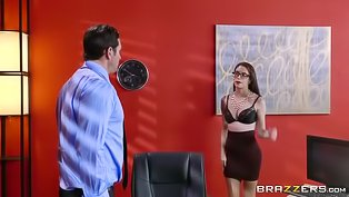 Hot secretary is getting fucked hard