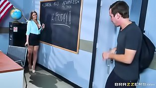 Sexy teacher is getting banged deep