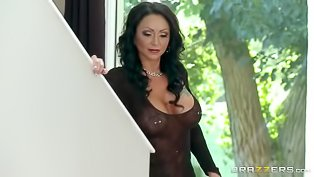 Wild MILF in black is getting drilled