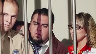 Sexy doctor gets fucked in prison