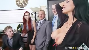 Hot business woman gets banged
