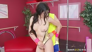 Sweet brunette gets punished hard