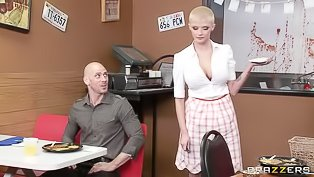 Bald lady is getting fucked with cock