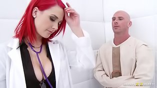 Redhead madam gets banged deep