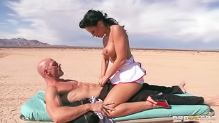 Wild lovers are fucking on the beach