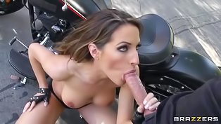 Slutty mechanic babe needs a dick
