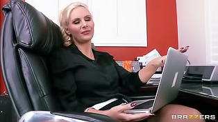 Sexy lady is fucking her secretary