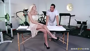 Masseur is punishing sweet blonde