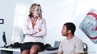 Business woman gets punished so deep