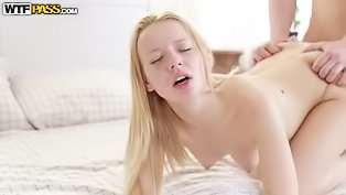 Tender blonde gets pussy banged