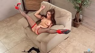 Babe in red is having awesome solo