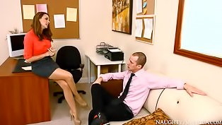 Slutty office girl loves anal sex