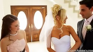 Sexy bride is enjoying awesome fuck