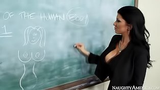 Busty teacher is getting banged hard