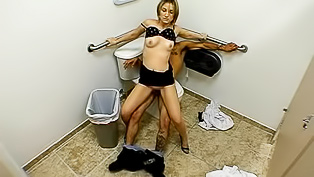Spy cam fucking session in the restroom