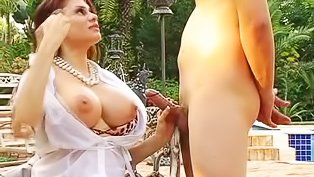Teen's MILF mentor in a threesome