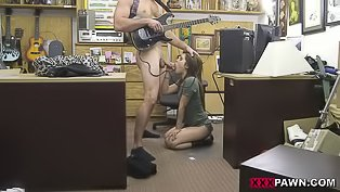 Shop assistant is banging slutty babe