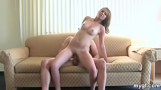 Juicy babe loves riding big dick