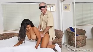Older man is fucking ebony slut