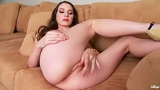 Brunette angel loves fingering cunt