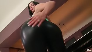 Gorgeous lady is touching herself