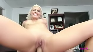 Kinky blonde gets banged so deep