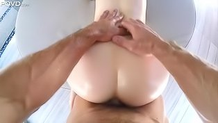 Hairy pussy hoe fucked in POV