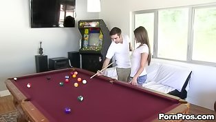 Playing billiards and fucking hot chick