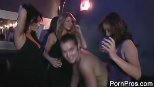 Three whores are sharing the stripper