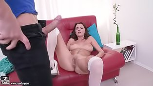 Sexy lady is getting penetrated hard