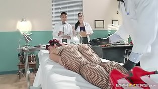 Hot lady gets fucked by the doctor