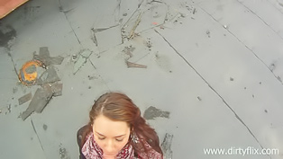 Ginger girl gets fucked in the street