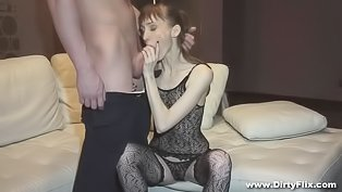 Skinny whore is getting fucked hard