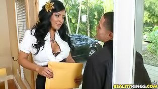 Big boobs Latina gets wrecked