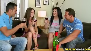 Foursome fuck with Euro hotties