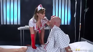 Hot nurse is getting banged