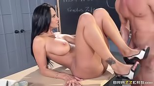 Busty teacher gets penetrated wildly