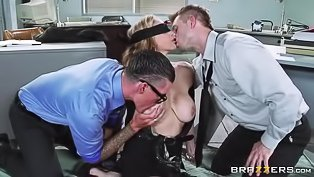 MILF slut fucked in the office