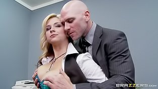 Busty blonde is getting drilled wildly