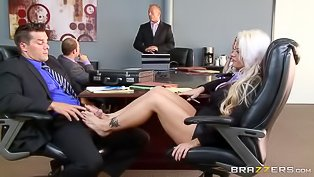 Having awesome sex in the office