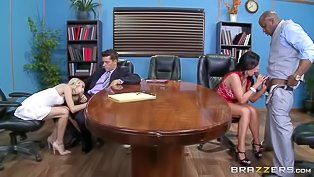 Amazing foursome in the office