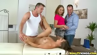 Awesome lovers are enjoying foursome